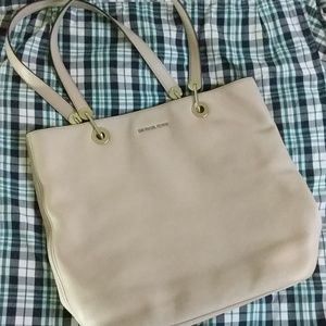 Grey Michael Kors Leather Tote